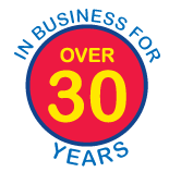 over 30 years logo