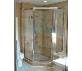 Frameless Shower Door Neo Angled with Header