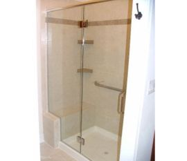 Frameless Shower Door With In-line Panel