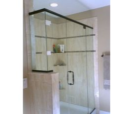 Custom Glass Shower Door To Fit Irregular Opening
