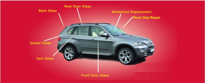 auto glass replacement diagram